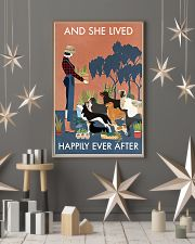 Vintage And She Lived Happily Dogs Gardening 11x17 Poster lifestyle-holiday-poster-1
