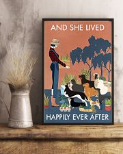 Vintage And She Lived Happily Dogs Gardening 11x17 Poster lifestyle-poster-3