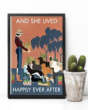 Vintage And She Lived Happily Dogs Gardening 11x17 Poster lifestyle-poster-8