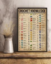 Knowledge Crochet Cheat Sheet 11x17 Poster lifestyle-poster-3