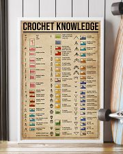 Knowledge Crochet Cheat Sheet 16x24 Poster lifestyle-poster-4