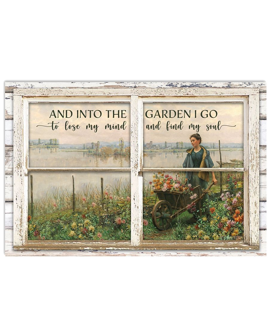 Window And Into The Garden 24x16 Poster
