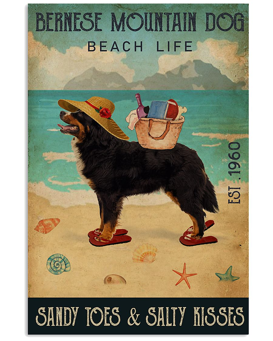 Beach Life Sandy Toes Bernese Mountain Dog 11x17 Poster