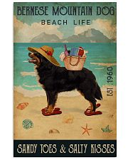 Beach Life Sandy Toes Bernese Mountain Dog 11x17 Poster front