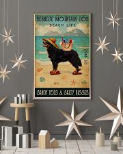 Beach Life Sandy Toes Bernese Mountain Dog 11x17 Poster lifestyle-holiday-poster-1