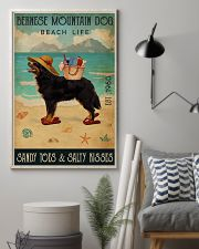 Beach Life Sandy Toes Bernese Mountain Dog 11x17 Poster lifestyle-poster-1