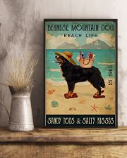 Beach Life Sandy Toes Bernese Mountain Dog 11x17 Poster lifestyle-poster-3