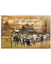 Holstein Friesian cattle Let The Gate Open 17x11 Poster front