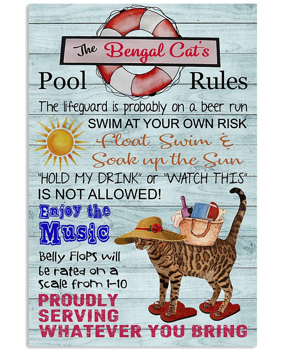 Bengal Cat Pool Rule  16x24 Poster