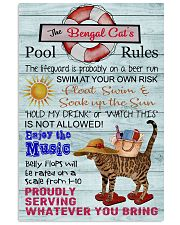 Bengal Cat Pool Rule  16x24 Poster front