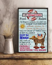 Bengal Cat Pool Rule  16x24 Poster lifestyle-poster-3