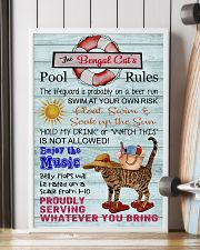 Bengal Cat Pool Rule  16x24 Poster lifestyle-poster-4