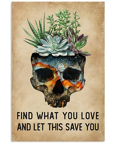 Watercolor Succulent Skull Find What