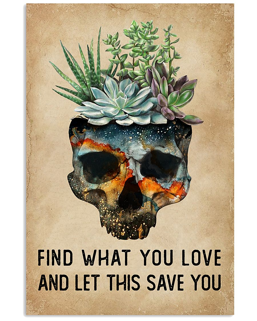 Watercolor Succulent Skull Find What  11x17 Poster