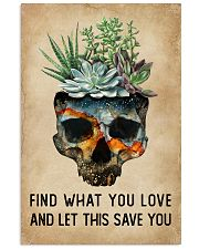 Watercolor Succulent Skull Find What  11x17 Poster front