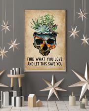 Watercolor Succulent Skull Find What  11x17 Poster lifestyle-holiday-poster-1