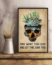 Watercolor Succulent Skull Find What  11x17 Poster lifestyle-poster-3