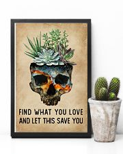 Watercolor Succulent Skull Find What  11x17 Poster lifestyle-poster-8