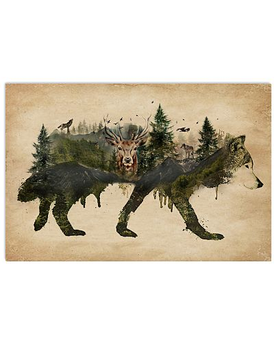 Wolf Pride A Natural Animals Forest Mountains