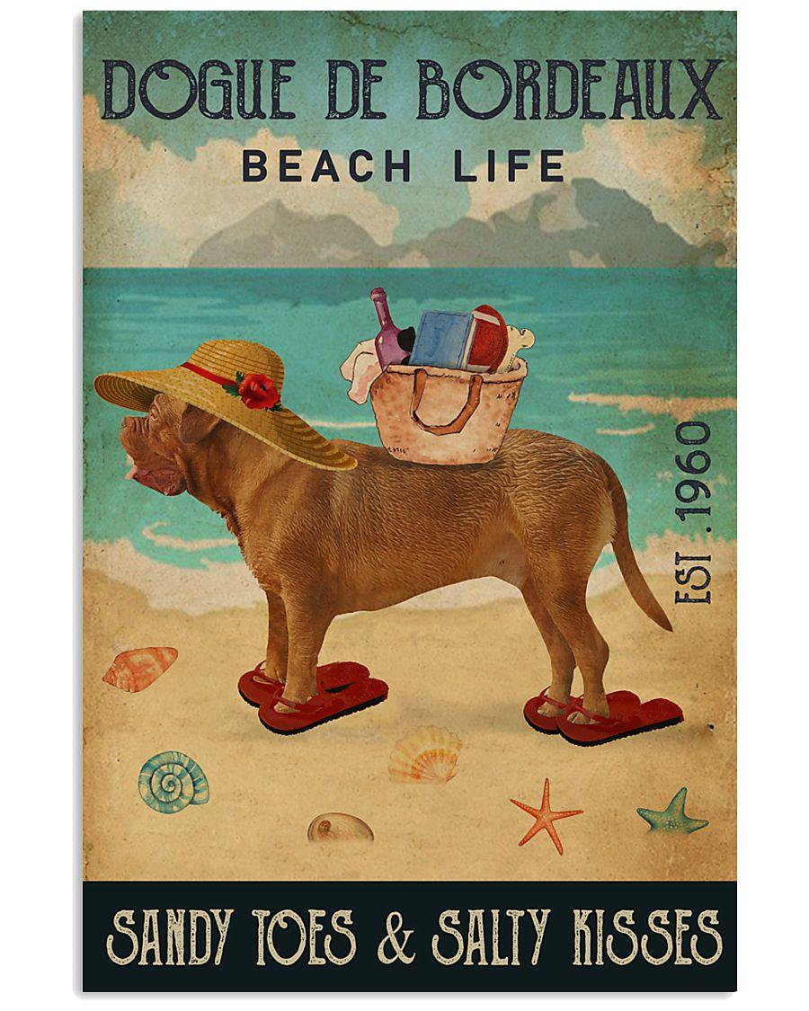 Beach Life Sandy Toes Dogue De Bordeaux 11x17 Poster