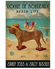 Beach Life Sandy Toes Dogue De Bordeaux 11x17 Poster front