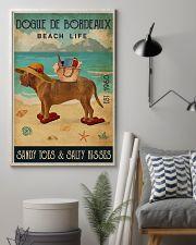 Beach Life Sandy Toes Dogue De Bordeaux 11x17 Poster lifestyle-poster-1