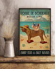 Beach Life Sandy Toes Dogue De Bordeaux 11x17 Poster lifestyle-poster-3