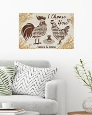 Personalized Chicken I Choose You 24x16 Poster poster-landscape-24x16-lifestyle-01