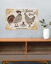 Personalized Chicken I Choose You 24x16 Poster poster-landscape-24x16-lifestyle-25