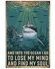 Retro Ocean Find My Soul Shark 11x17 Poster front