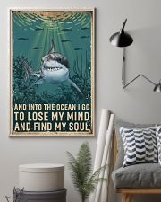 Retro Ocean Find My Soul Shark 11x17 Poster lifestyle-poster-1
