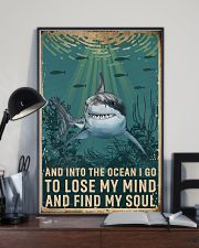 Retro Ocean Find My Soul Shark 11x17 Poster lifestyle-poster-2