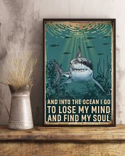 Retro Ocean Find My Soul Shark 11x17 Poster lifestyle-poster-3
