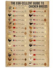 The Egg-Cellent Guide To Chicken Breeds 11x17 Poster front