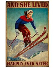Retro Lived Happily Skiing Girl 11x17 Poster front