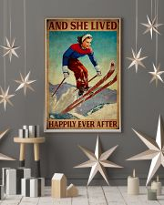 Retro Lived Happily Skiing Girl 11x17 Poster lifestyle-holiday-poster-1