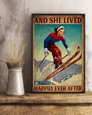 Retro Lived Happily Skiing Girl 11x17 Poster lifestyle-poster-3