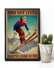 Retro Lived Happily Skiing Girl 11x17 Poster lifestyle-poster-8