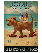 Beach Life Sandy Toes Doodle 11x17 Poster front