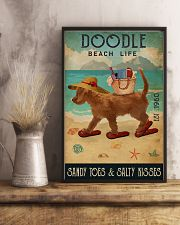 Beach Life Sandy Toes Doodle 11x17 Poster lifestyle-poster-3