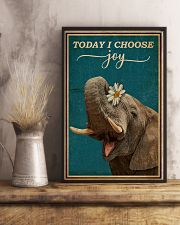 Today I Choose Joy Elephant 16x24 Poster lifestyle-poster-3