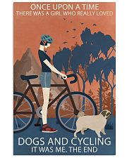 Vintage Girl Once Upon A Time Pug And Cycling 11x17 Poster front