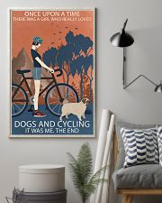 Vintage Girl Once Upon A Time Pug And Cycling 11x17 Poster lifestyle-poster-1