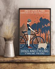 Vintage Girl Once Upon A Time Pug And Cycling 11x17 Poster lifestyle-poster-3