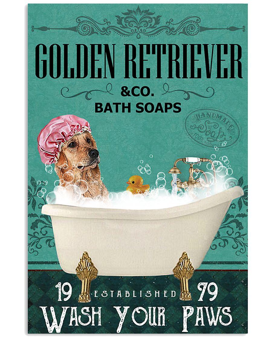 Green Bath Soap Company Golden Retriever 11x17 Poster