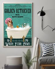 Green Bath Soap Company Golden Retriever 11x17 Poster lifestyle-poster-1