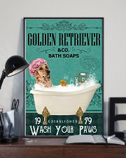 Green Bath Soap Company Golden Retriever 11x17 Poster lifestyle-poster-2