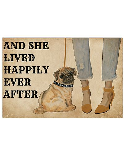 Heels Lived Happily Pug