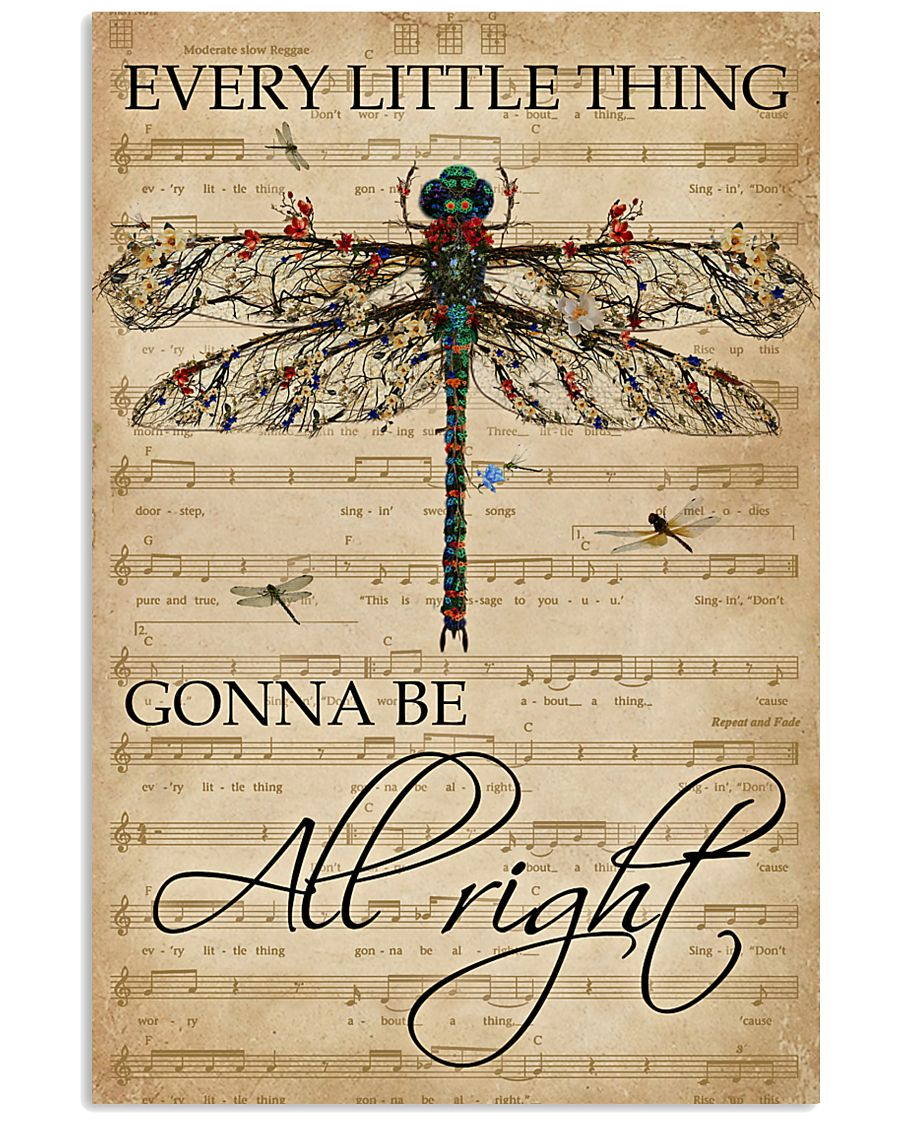 Music Sheet Every Little Thing Dragonfly 11x17 Poster