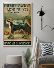 Camping Life Route Greater Swiss Mountain Dog 11x17 Poster lifestyle-poster-1